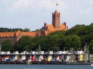 Blick auf die Marineschule, Flensburg