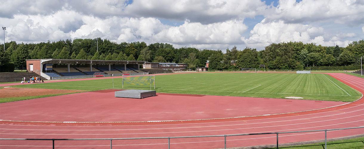 Das Stadion in Flensburg Mürwik